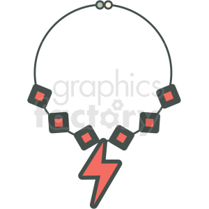 rock+n+roll lightning thunder necklace