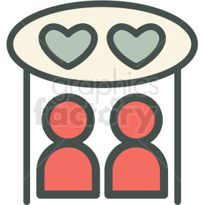 people in love vector icon image clipart. Commercial use image # 406582