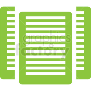 organized data icon clip art clipart. Royalty-free image # 406630