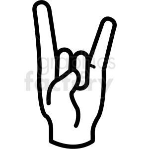 hand devil horns gesture vector icon clipart. Commercial use image # 406784