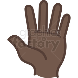 hello african american hand vector icon clipart. Commercial use image # 406799