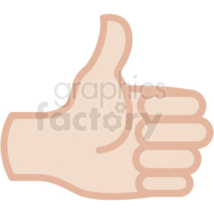 white thumbs up hand vector icon clipart. Commercial use image # 406801