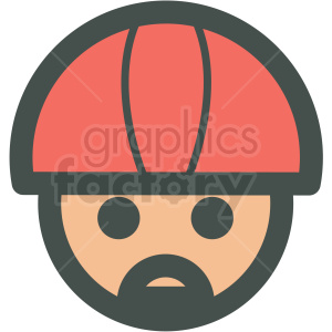 avatar wearing helmet vector icons clipart. Royalty-free icon # 406802
