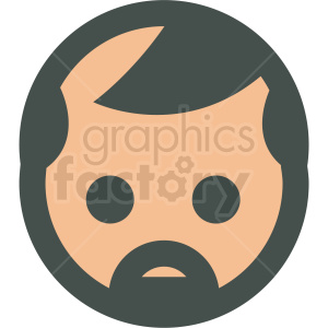 middle aged man avatar vector icons clipart. Royalty-free image # 406819