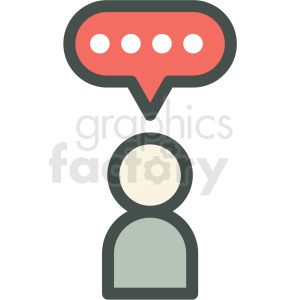 messaging chat vector icon clipart. Royalty-free image # 406891
