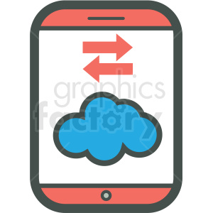 cloud data transfer smart device vector icon clipart. Royalty-free image # 406940