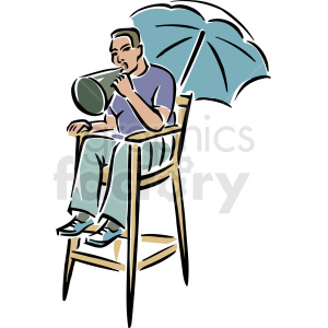 A Director Sitting in a Chair Saying Action clipart. Royalty-free image # 156306