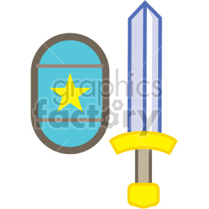 sword and shield vector game art icons clipart. Commercial use image # 407101