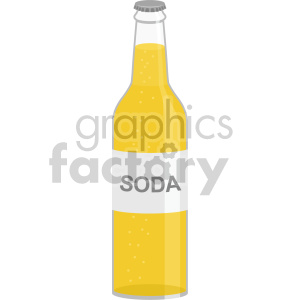 soda bottle flat icons