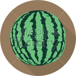 watermelon on circle background flat icon clip art clipart. Commercial use image # 407147