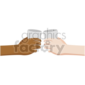 interracial hands giving cheers flat icons clipart. Royalty-free image # 407149