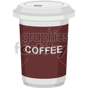coffee travel cup vector flat icons clipart. Royalty-free icon # 407181