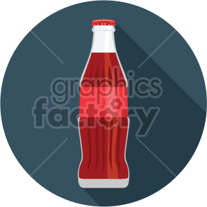 soda pop bottle on circle background flat icons clipart. Royalty-free image # 407187