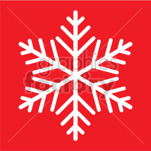 snowflake on red background vector rf clip art clipart. Commercial use image # 407200