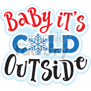baby its cold outside vector svg cut file clipart. Royalty-free image # 407217