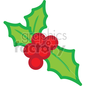 christmas holly berries vector icon clipart. Royalty-free icon # 407249