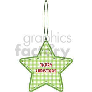 green star Christmas tree decoration clipart. Commercial use image # 407253