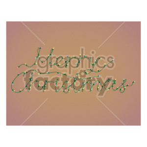 merry christmas word in christmas lights on brown background clipart. Commercial use image # 407263