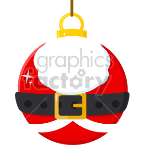 Christmas Ball With Santa Claus Costume Vector Illustration Flat Design Isolated On White Background clipart. Commercial use image # 407267
