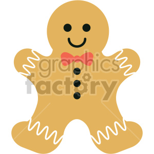 gingerbread man cookie clipart clipart. Royalty-free image # 407288