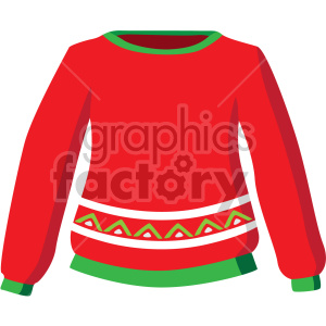 christmas sweater icon clipart. Commercial use image # 407302