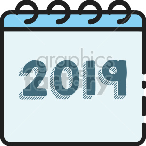 calendar 2019 clipart. Royalty-free image # 407427