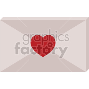love letter for valentines vector icon no background clipart. Royalty-free image # 407435