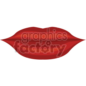 red lips vector icon no background clipart. Commercial use icon # 407468