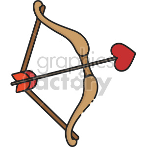 cupid bow clipart. Royalty-free image # 407508
