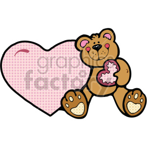 pink heart and teddy bear clipart. Commercial use image # 407518