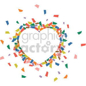 heart confetti no background clipart. Commercial use image # 407618