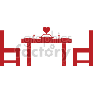 dinner table for valentines clipart. Commercial use image # 407623