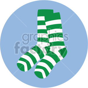 st patricks day socks on circle background clipart. Royalty-free image # 407671