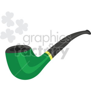 st patricks day pipe no background clipart. Commercial use image # 407685