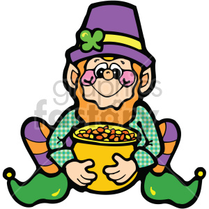cartoon leprechaun 001 c clipart. Commercial use image # 407701