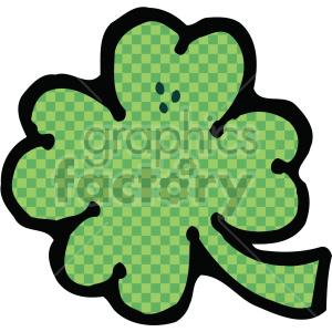 four leaf clover 003 c clipart. Royalty-free image # 407725