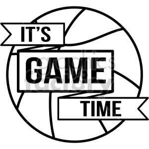its game time basketball vector art clipart. Commercial use image # 407761