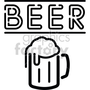 beer mug sign black+white rg