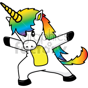 cartoon unicorn dancing clipart. Royalty-free image # 407775