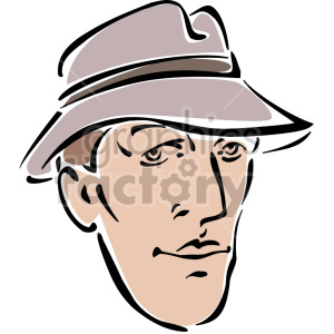 man wearing hat clipart. Royalty-free image # 157327