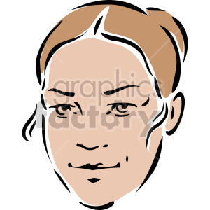 female's face clipart. Commercial use image # 157331