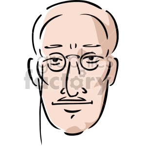 man's face with glasses clipart. Royalty-free image # 157389