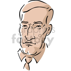 cartoon man's face clipart. Royalty-free image # 157395