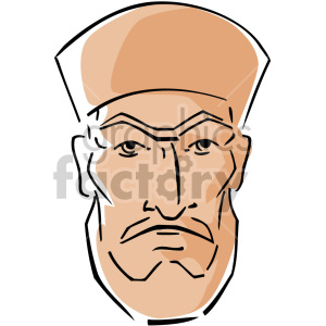 Muslim's man face clipart. Commercial use image # 157367