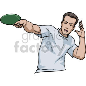 man playing ping pong clipart. Royalty-free image # 170061
