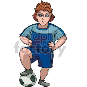 soccer player clipart. Commercial use image # 155329