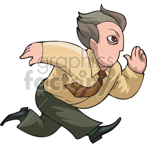 business man running late clipart. Royalty-free image # 155331