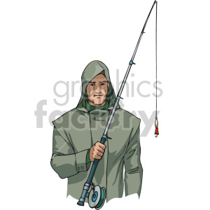 man going fishing clipart. Royalty-free image # 168910