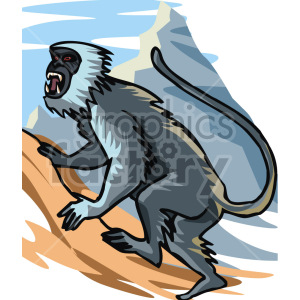 monkey clipart. Royalty-free image # 129316