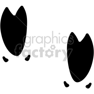 wild pig hoof tracks vector clipart. Commercial use image # 407823